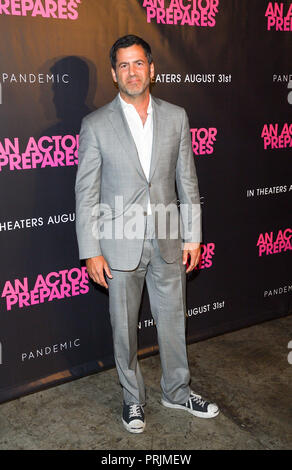 New York, NY - August 29, 2018: David Rosenthal attends An Actor Prepares New York Screening at Metrograph - Stock Photo