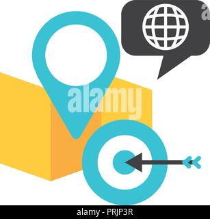 map location pin world target - Stock Photo