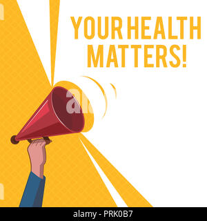 Handwriting text Your Health Matters. Concept meaning Physical Wellness is Important Stay Fit and Healthy. - Stock Photo