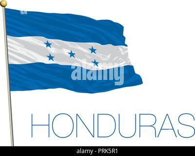 Honduras official flag, vector illustration - Stock Photo