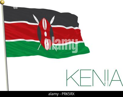 Kenia official flag, vector illustration - Stock Photo