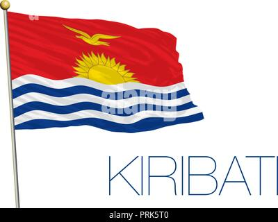 Kiribati official flag, vector illustration - Stock Photo