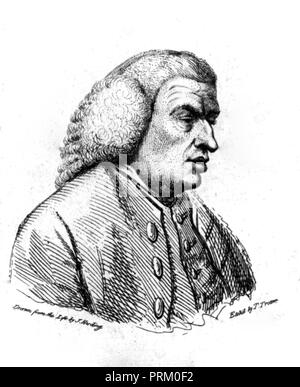 SAMUEL JOHNSON (1709-1784) English biographer, essayist, lexicographer - Stock Photo