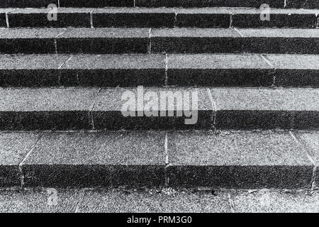 Berlin, Germany, May 29, 2018: Full Frame Close-Up of Staircase - Stock Photo