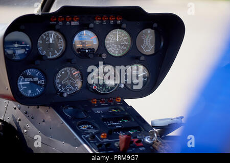 Devices on the remote control helicopter.Macro. - Stock Photo