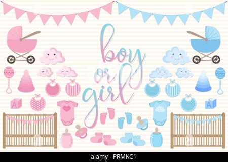 Set of cards for newborn baby vector templates for scrapbooking set of items for greeting cards m4hsunfo