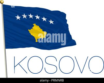 Kosovo official flag, vector illustration - Stock Photo