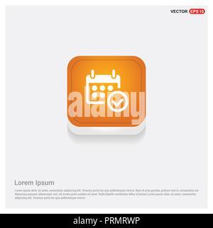 Calendar Icon Orange Abstract Web Button - Free vector icon - Stock Photo