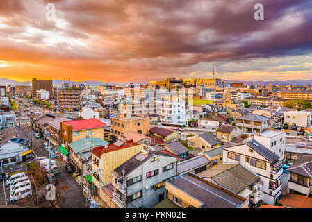 Kyoto, Japan downtown skyline at dusk. - Stock Photo