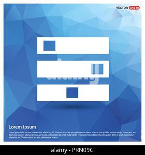 Computer Server icon - Free vector icon Stock Vector Art