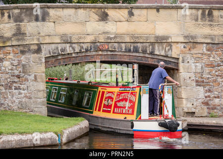The Llangollen Canal at Trevor Basin, Wales, UK - Stock Photo