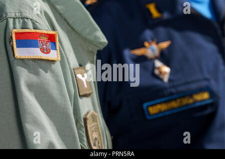 Serbia  03rd Oct, 2018  SERBIA - OCTOBER 3, 2018: A military