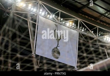 Wembley Stadium, London, UK. 3rd Oct 2018. General View of Wembley Stadium before the UEFA Champions League Group B match between Tottenham Hotspur and Barcelona at Wembley Stadium on October 3rd 2018 in London, England. (Photo by Leila Credit: PHC Images/Alamy Live News - Stock Photo