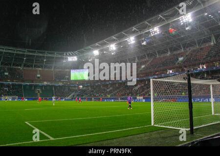 Moscow, Russia. 3rd October, 2018. UEFA Champions League: Lokomotiv Moscow v Schalke 04. RZHD Arena Credit: Alex Cavendish/Alamy Live News - Stock Photo