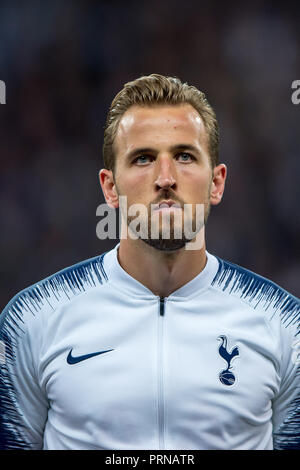London, UK. 3rd October, 2018. Harry Kane of Tottenham Hotspur during the UEFA Champions League Group Stage match between Tottenham Hotspur and Barcelona at Wembley Stadium, London, England on 3 October 2018. 3rd Oct, 2018. Credit: AFP7/ZUMA Wire/Alamy Live News Credit: ZUMA Press, Inc./Alamy Live News - Stock Photo