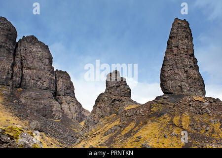 Old Man of Storr. Rock formation at the Isle of Skye, Scotland - Stock Photo