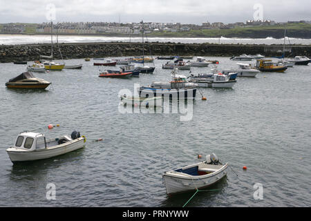 The seaside resort of Portrush, County Antrim, Northern Ireland, Tuesday July 19th, 2011. Photo/Paul McErlane - Stock Photo