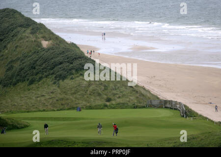 The Royal Portrush Golf Club in Portrush, North Antrim, Northern Ireland, Tuesday July 19th, 2011. Photo/Paul McErlane - Stock Photo