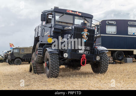 1954 Scammell Explorer Recovery on display at Dorset steam fair 2018 - Stock Photo