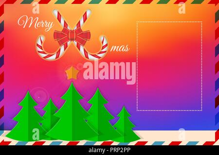 vector christmas greeting card template merry christmas