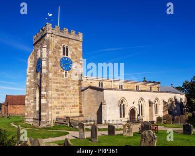 St Andrews Parish Church at Aldborough near Boroughbridge North Yorkshire England - Stock Photo