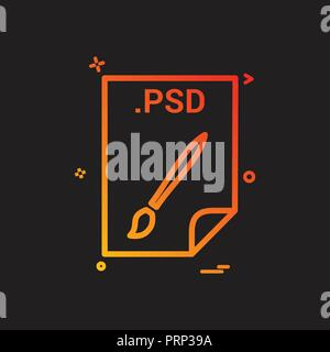 PSD application download file files format icon vector design - Stock Photo