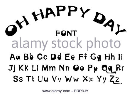 oh happy day font - Stock Photo