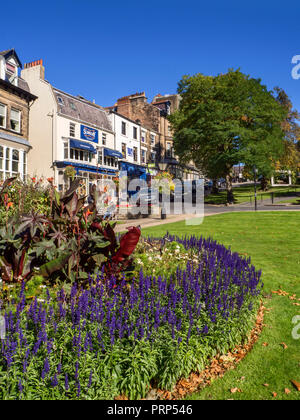 Gardens on Montpellier Hill in late summer at Harrogate North Yorkshire England - Stock Photo