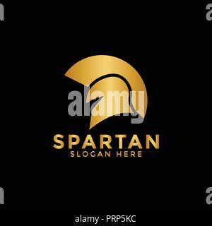 Illustration of golden spartan logo icon design template vector - Stock Photo