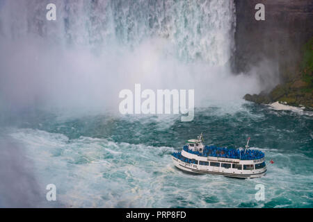 Maid Of The Mist, Niagara Falls - Stock Photo