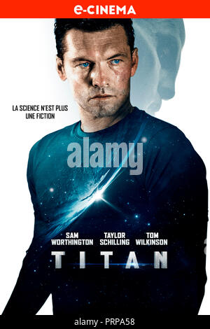 Prod DB © 42 -The Amel Company - Motion Picture Capital - Nostromo Pictures / DR TITAN (THE TITAN) de Lennart Ruff 2018 GB/ESP./USA affiche française - Stock Photo