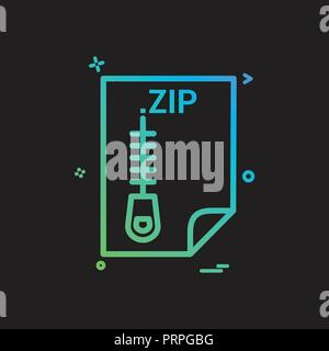 ZIP application download file files format icon vector design Stock