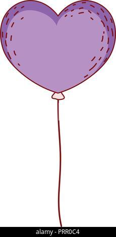 Heart shaped balloon - Stock Photo