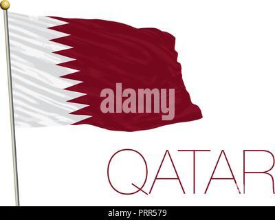 Qatar official flag, vector illustration - Stock Photo