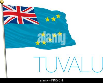 Tuvalu official flag, vector illustration - Stock Photo