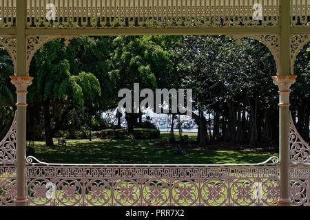 Gazebo in the park. - Stock Photo
