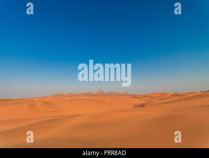 Namib desert landscape, Namibe Province, Iona National Park, Angola - Stock Photo