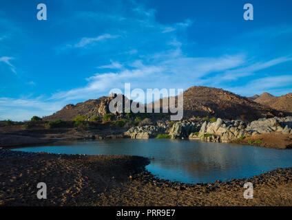 Pediva hot springs, Namibe Province, Iona National Park, Angola - Stock Photo