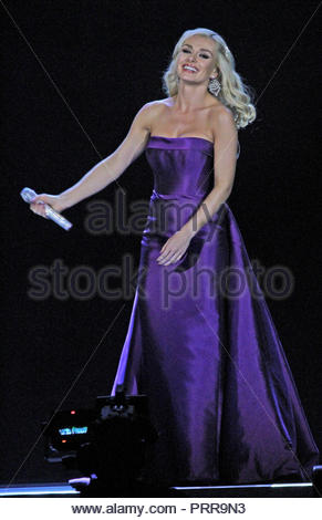 Katherine Jenkins is a guest on the Il Divo tour  at Liverpool Arena on Wednesday 10 April 2013 - Stock Photo