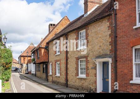 Period houses, Wool Lane, Midhurst, West Sussex, England, United Kingdom - Stock Photo
