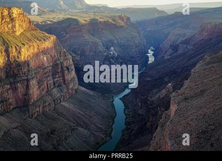 View of Grand Canyon from Toroweap Point - Stock Photo