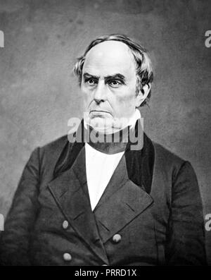 DANIEL WEBSTER (1782-1852) American politician, lawyer  and orator - Stock Photo