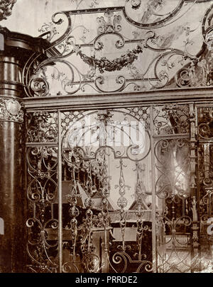 Interiors of Stams Abbey, Stift Stams, Austria 1900s - Stock Photo
