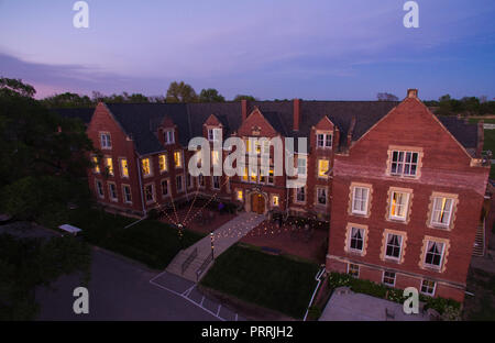 Historic Belvoir Winery and Inn Aerial Photography HDR - Stock Photo