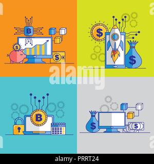 fintech business related - Stock Photo