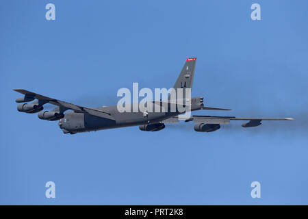 United States Air Force (USAF) Boeing B-52H Stratofortress strategic bomber aircraft (61-0012) from Barksdale Air Force Base.