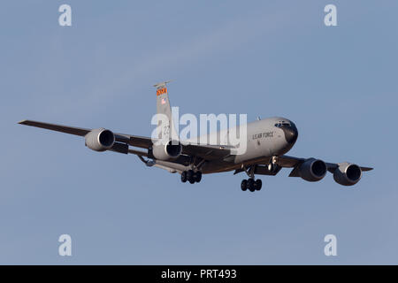 United States Air Force (USAF) Boeing KC-135R Stratotanker 61-0315 aerial refuelling tanker aircraft. - Stock Photo