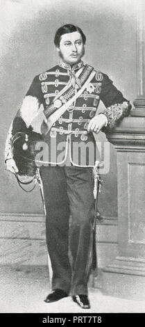 Prince Albert Edward, Prince of Wales, future King Edward VII, in uniform, as Colonel of the 10th Hussars - Stock Photo
