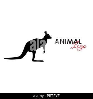 Kangaroo icon logo symbol vector illustration - Stock Photo