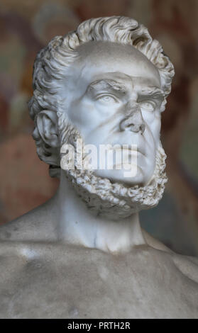 Carlo Matteucci (1811-1868). Italian physcist and neurophysiologist .Pionner in the study of bioelectricity. Statue. Pisa. Italy. - Stock Photo